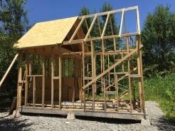 Cabin frame with half decking