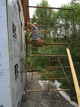 Paulette on scaffolding