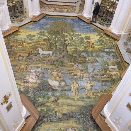 St. Michael's Church in Anacapri - ceramic tile floor