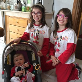 Ariel and her Italian cousins Giulia and Chiara