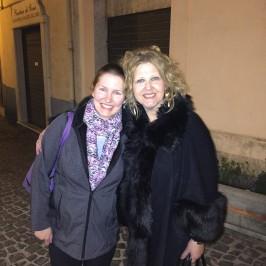 Paulette and Professor Scerrato